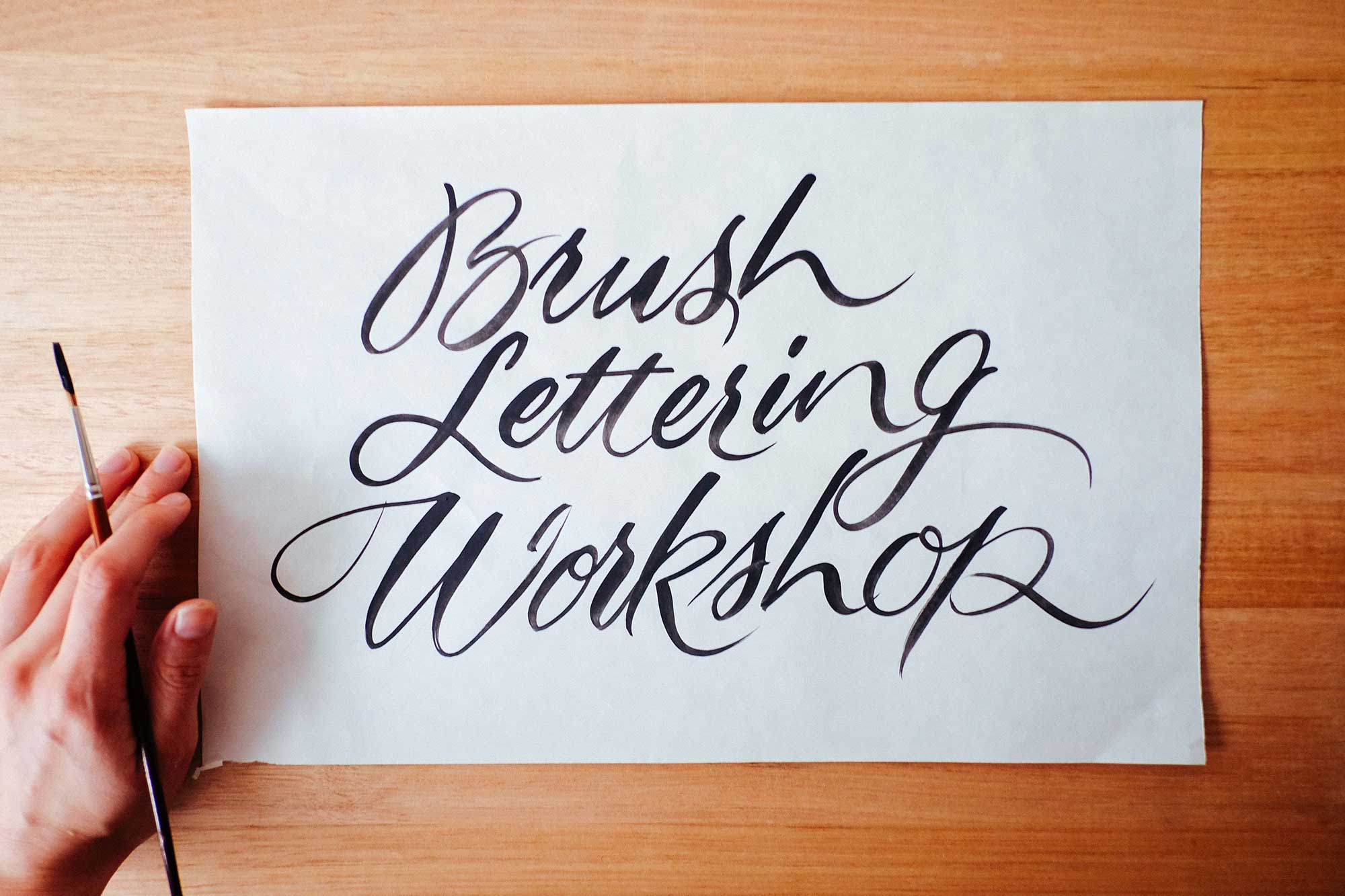 Brush Lettering Workshop, Melbourne 1st July 2017